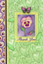 Thank You Pansy Flower to Fraser Creative Expression